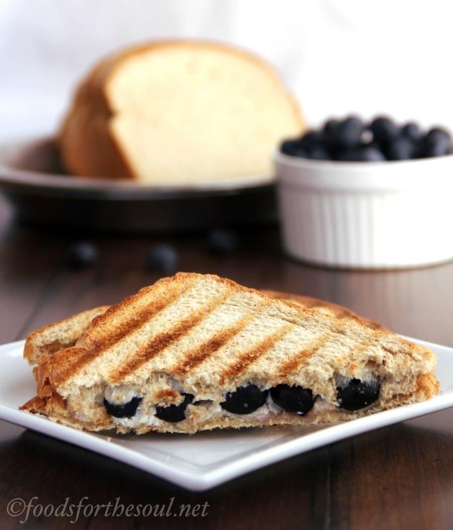blueberry pie panini