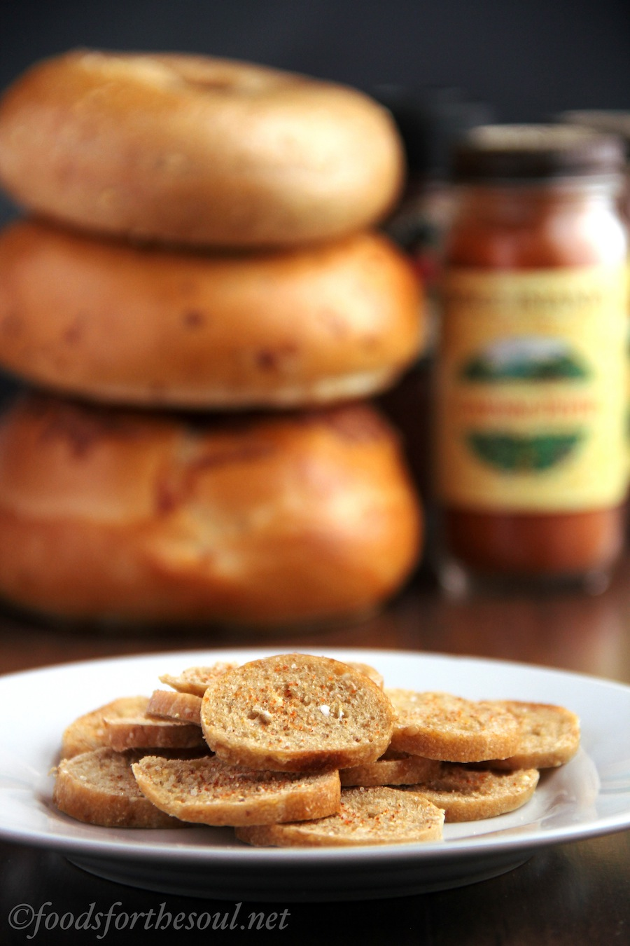 spicy bagel chips