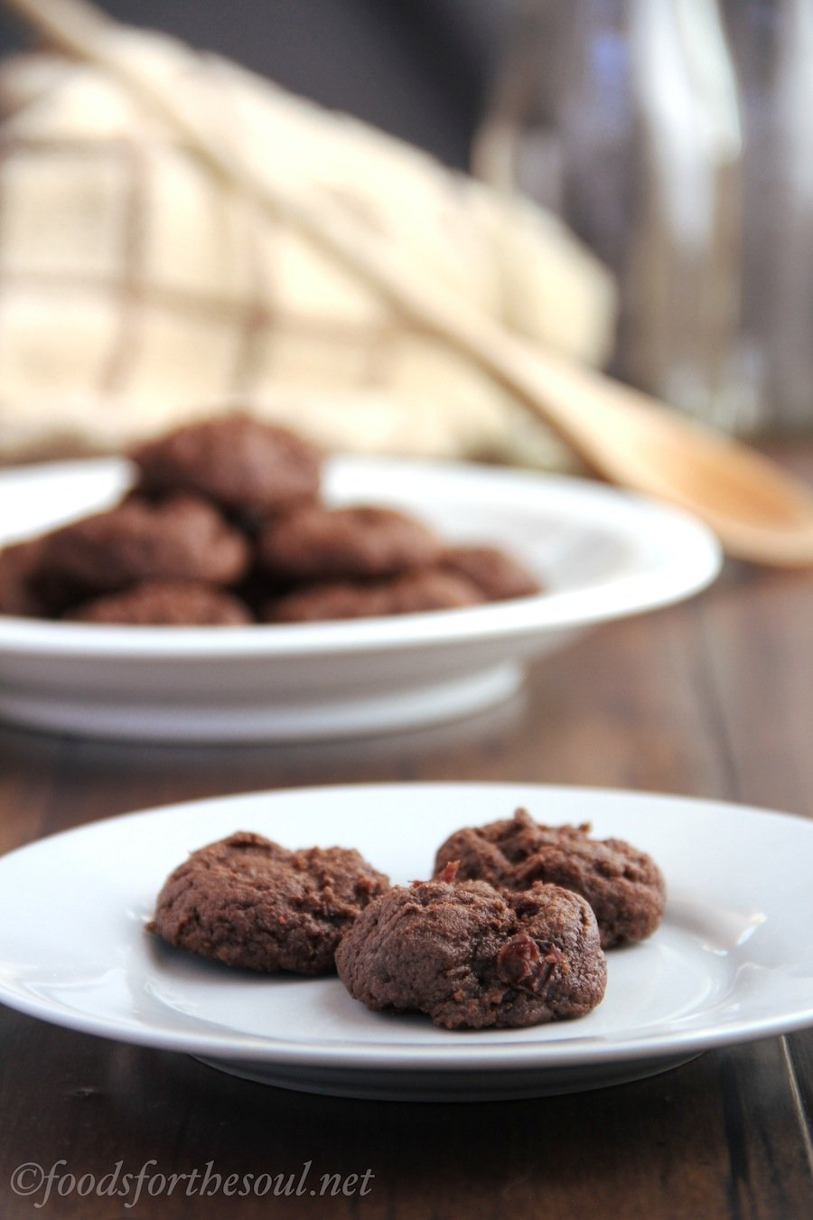 fudgy chocolate cherry cookies
