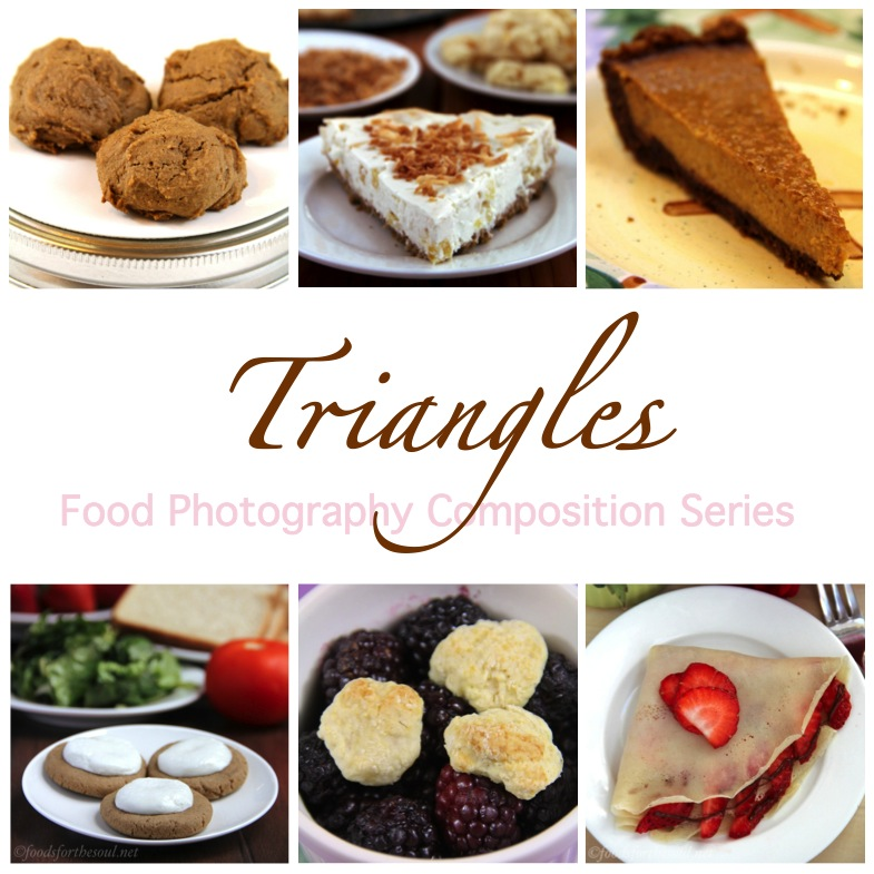 Food Photo Composition: Triangles