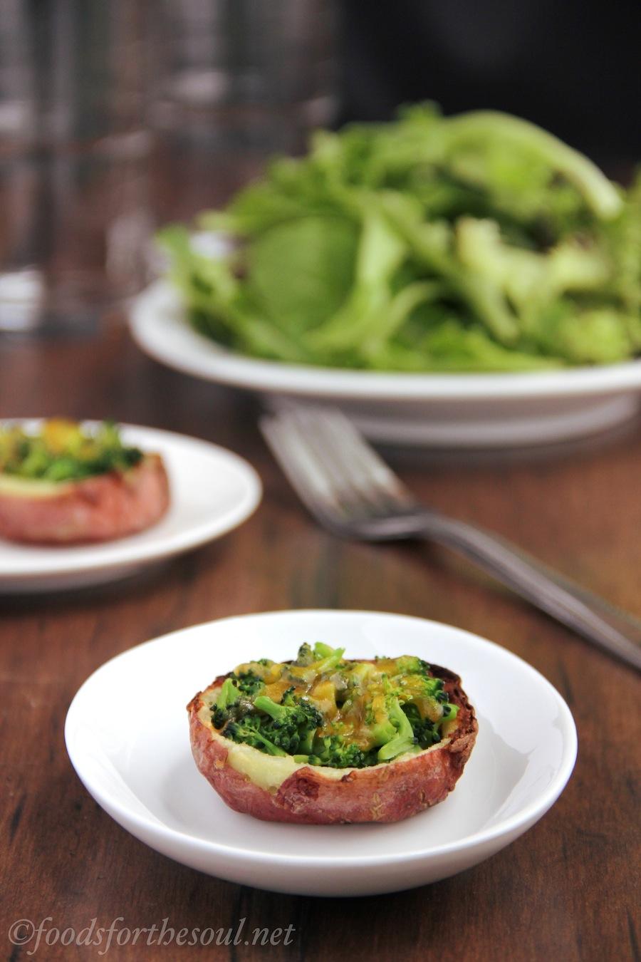 broccoli cheddar potato skins