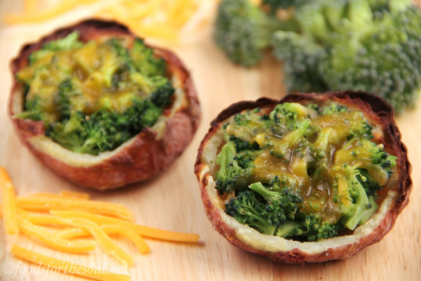 broccoli cheddar potato skins