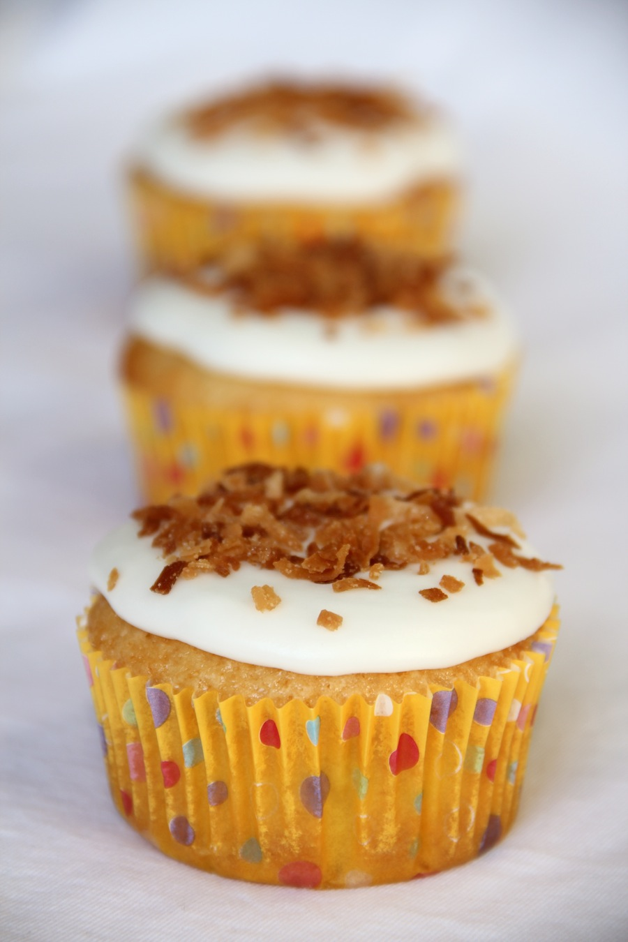 lemon-German chocolate combo cupcakes
