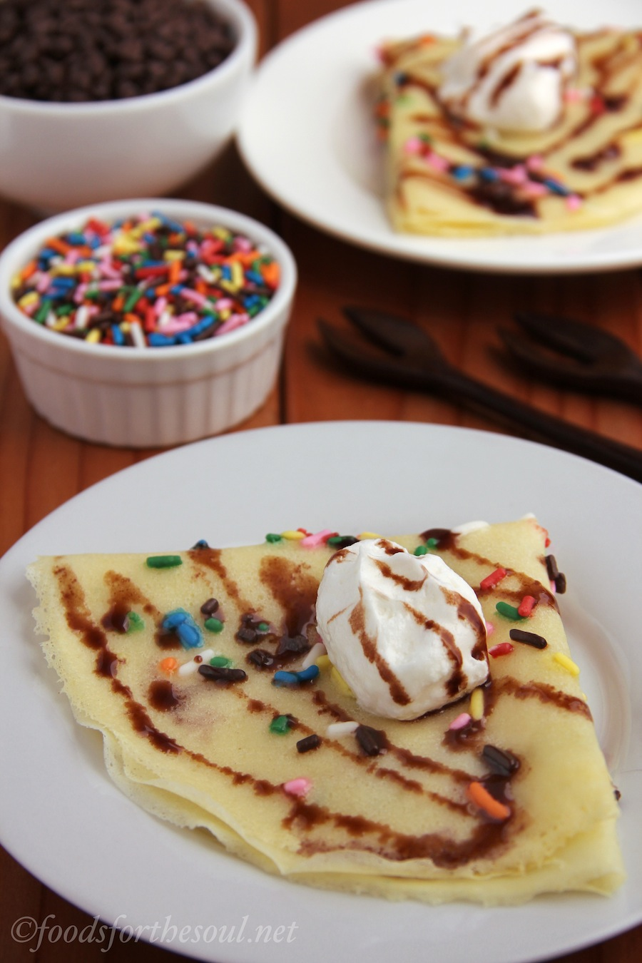 funfetti crêpes | Foods for the Soul