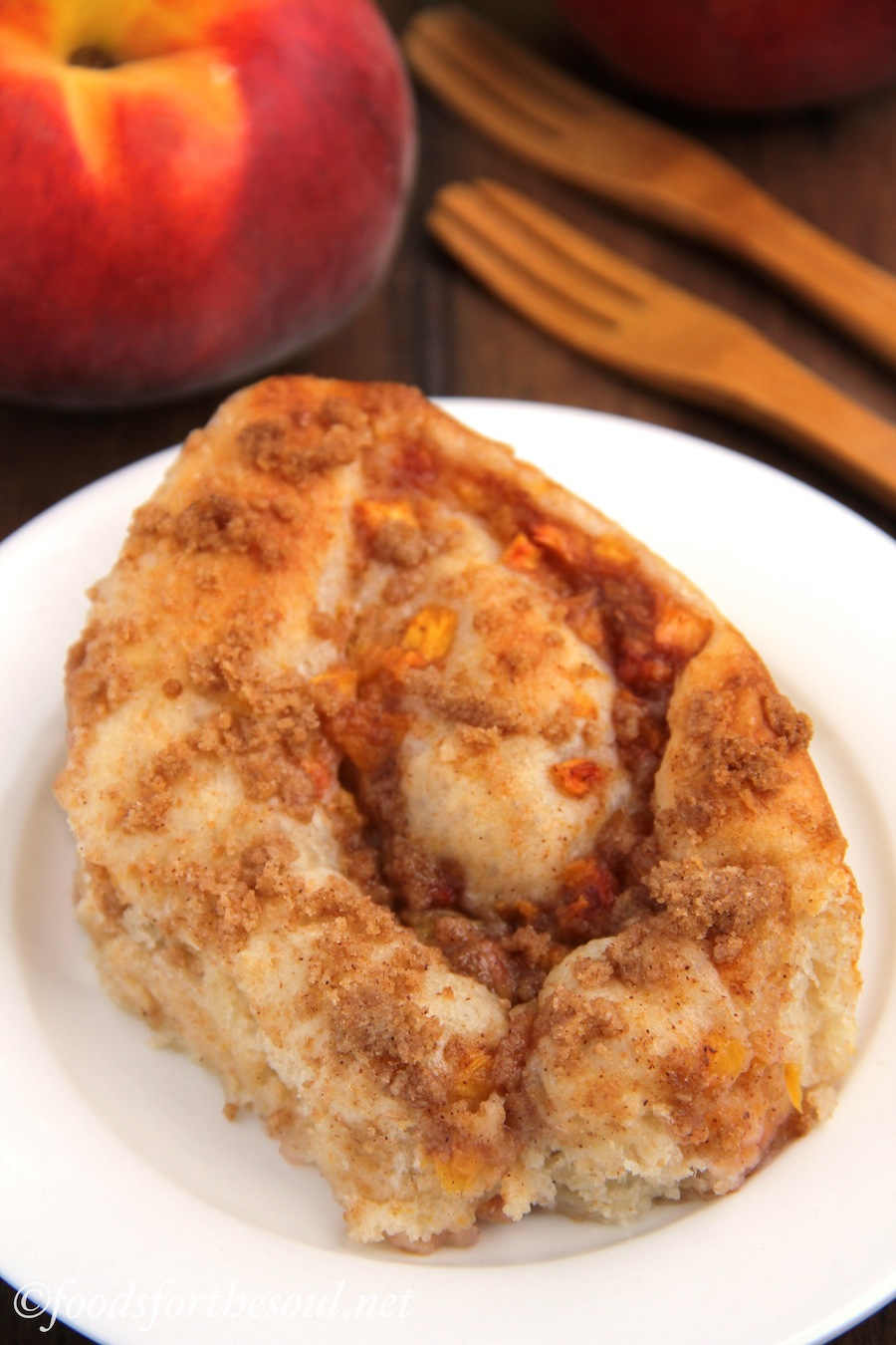 Peach Pie Cinnamon Rolls | by Foods for the Soul