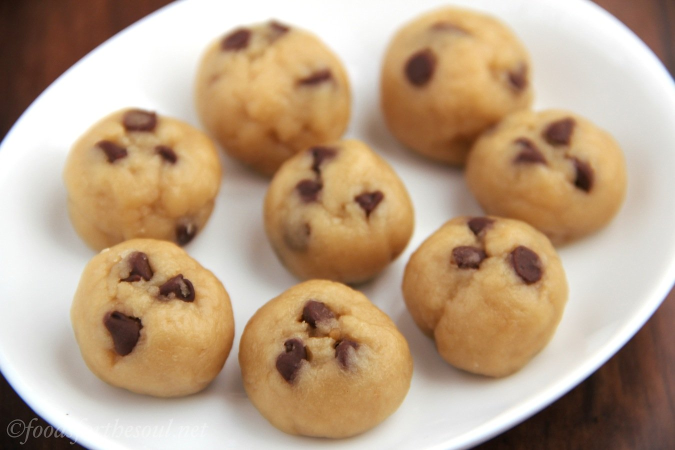 Chocolate Chip Cookie Dough Bites | by Foods for the Soul