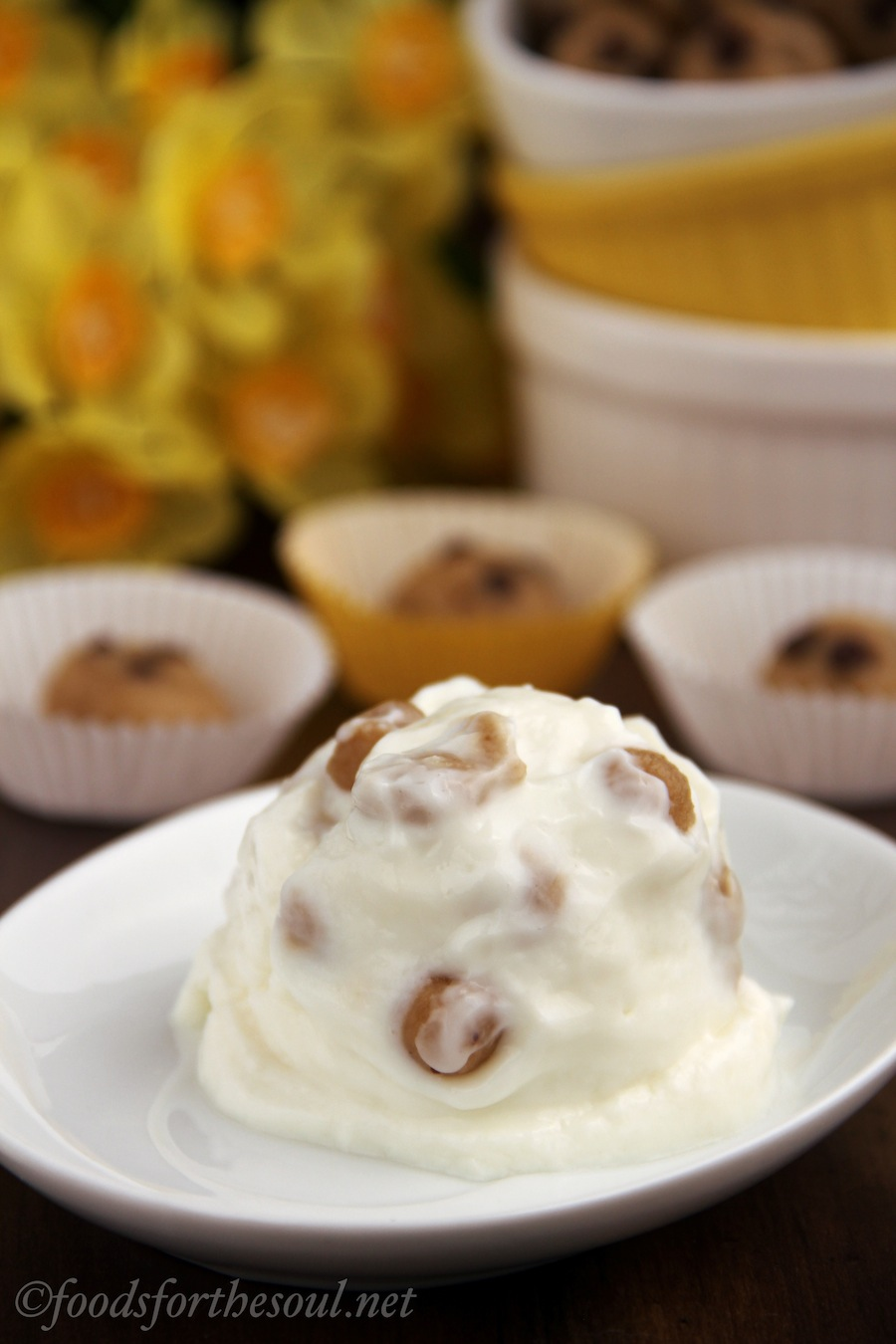Cookie Dough Frozen Yogurt | by Amy's Healthy Baking