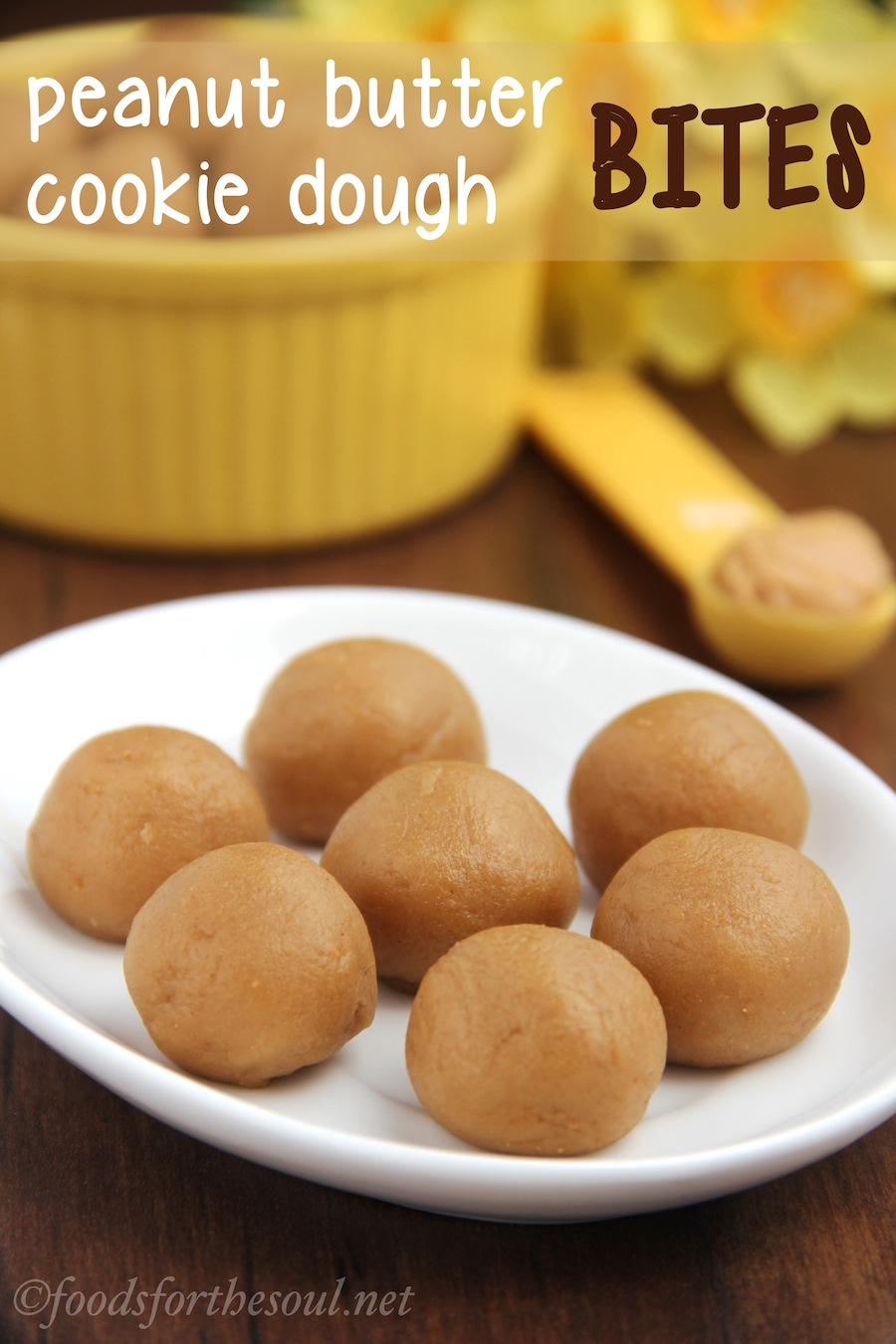 Peanut Butter Cookie Dough Bites -- secretly healthy & meant to be eaten raw!