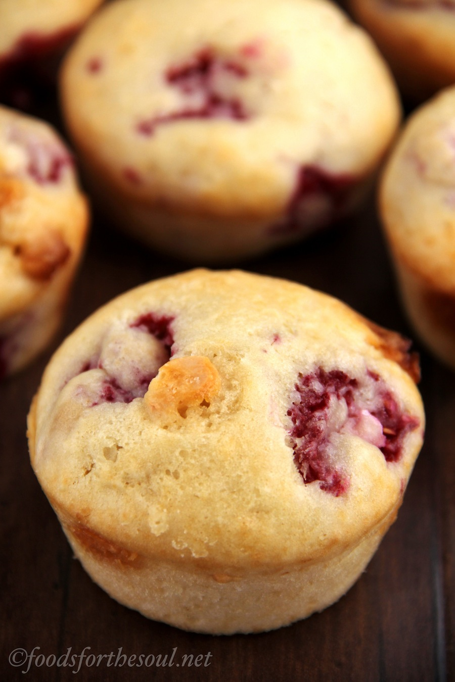 White Chocolate Raspberry Muffins | by Foods for the Soul {foodsforthesoul.net}