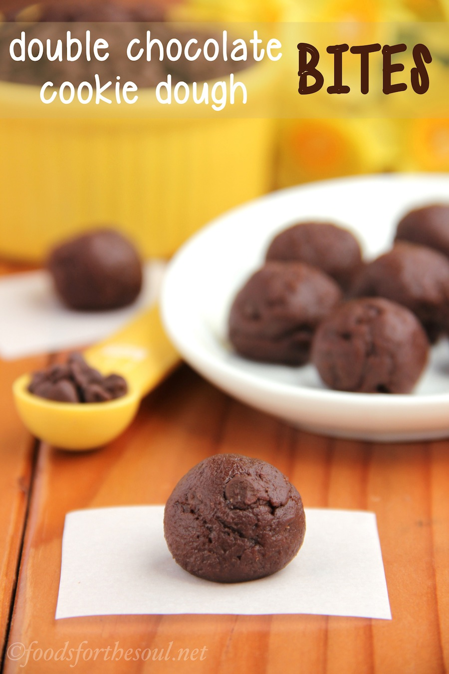 Double Chocolate Cookie Dough Bites | by Foods for the Soul
