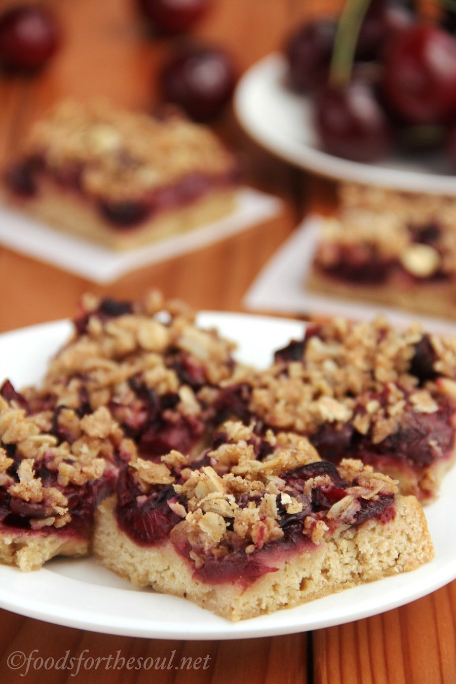 Cherry Crumble Bars | by Foods for the Soul