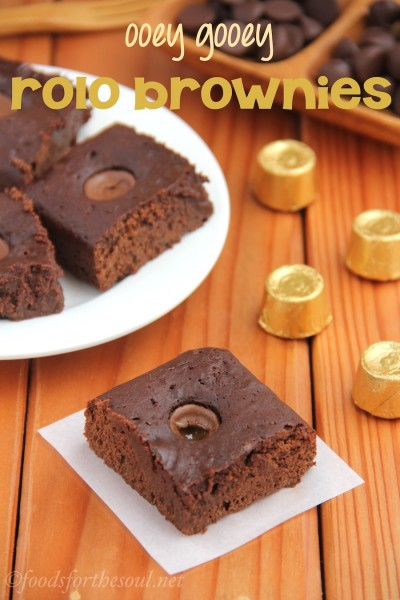 Ooey Gooey Rolo Brownies