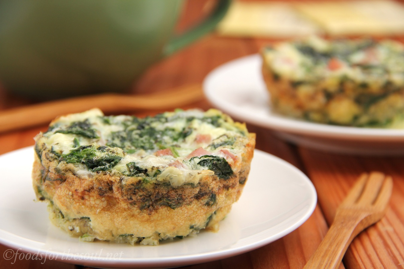 Egg White, Ham, & Spinach Quiches | by Foods for the Soul
