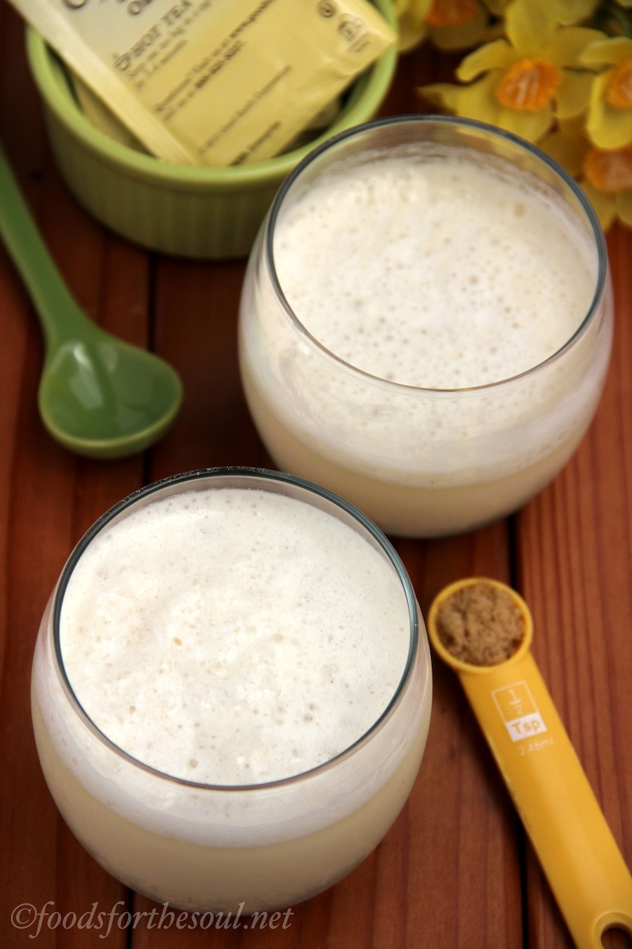 Creamy Green Tea Smoothie | by Foods for the Soul