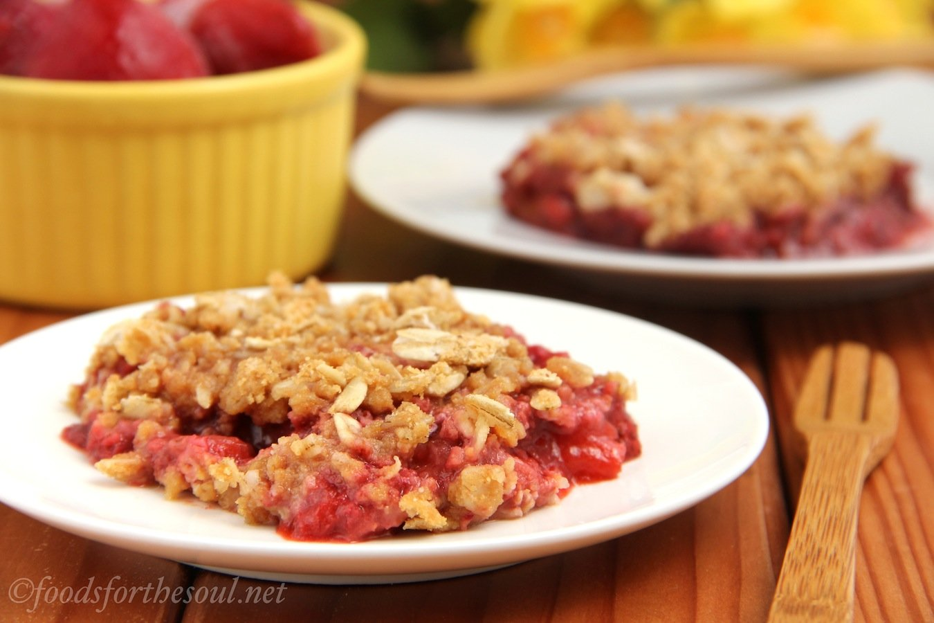 Strawberry Peanut Butter Crumble | by Foods for the Soul {foodsforthesoul.net}