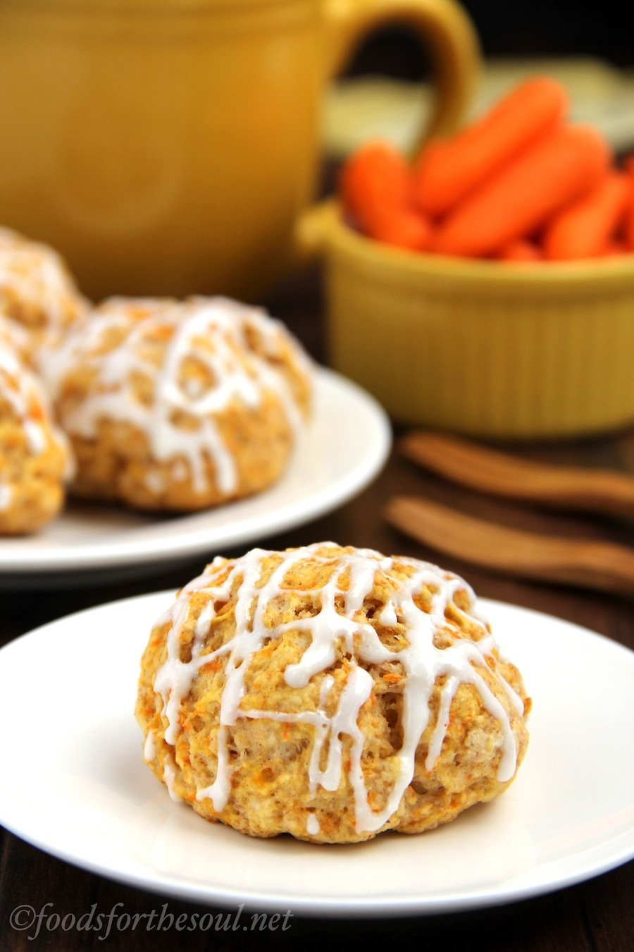 Carrot Cake Scones -- light, moist & low calorie. But they don't taste healthy at all!