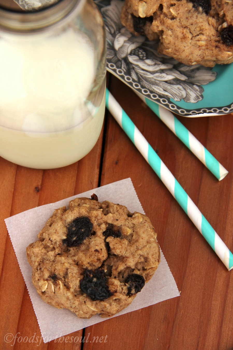 Spiced Oatmeal Raisin Cookies | by Foods for the Soul {foodsforthesoul.net}
