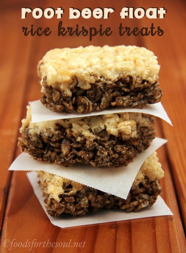 Root Beer Float Rice Krispie Treats   Fun And Yummy Rice Krispie Treats