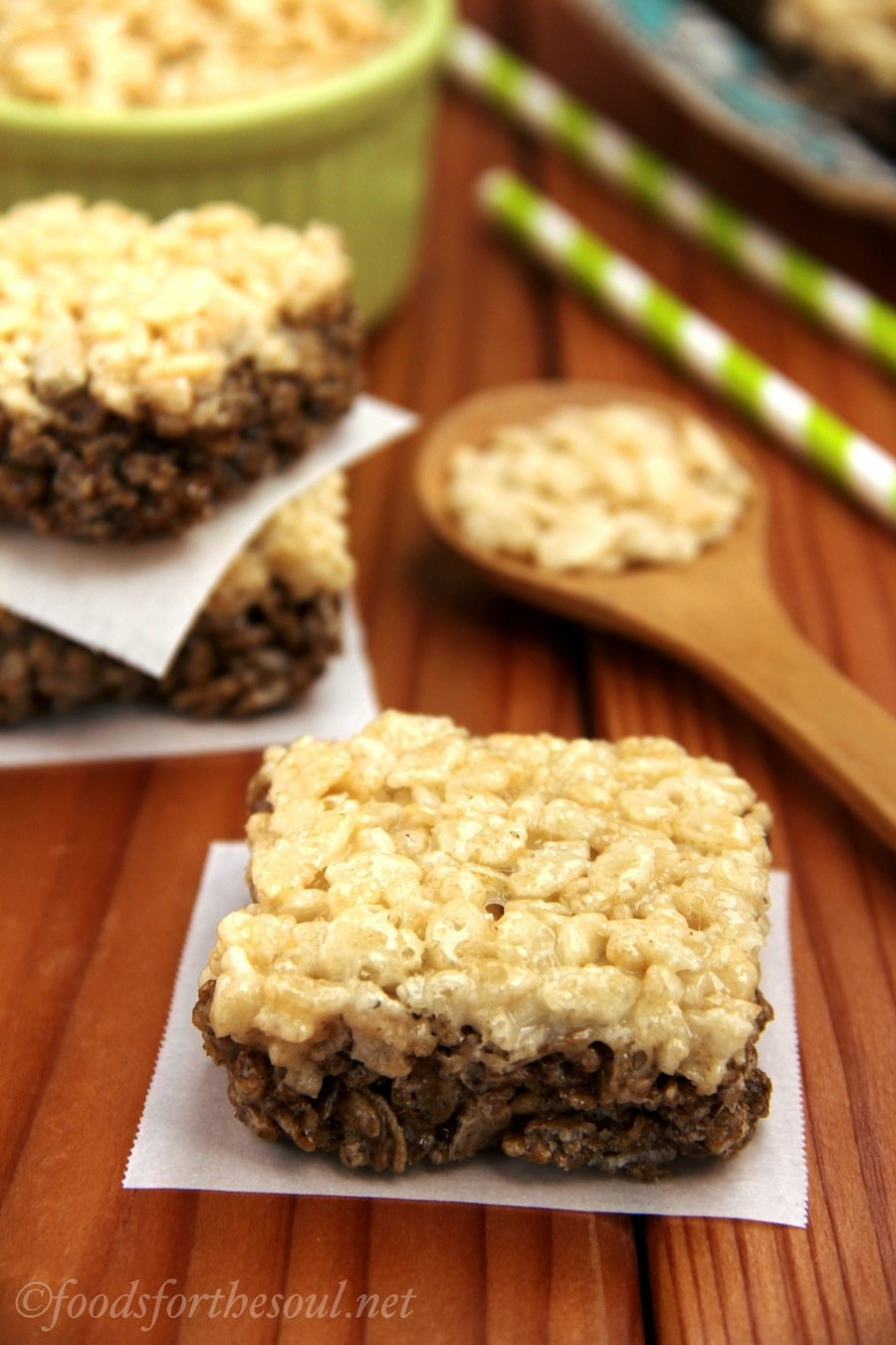 Root Beer Float Rice Krispie Treats | by Foods for the Soul {foodsforthesoul.net}
