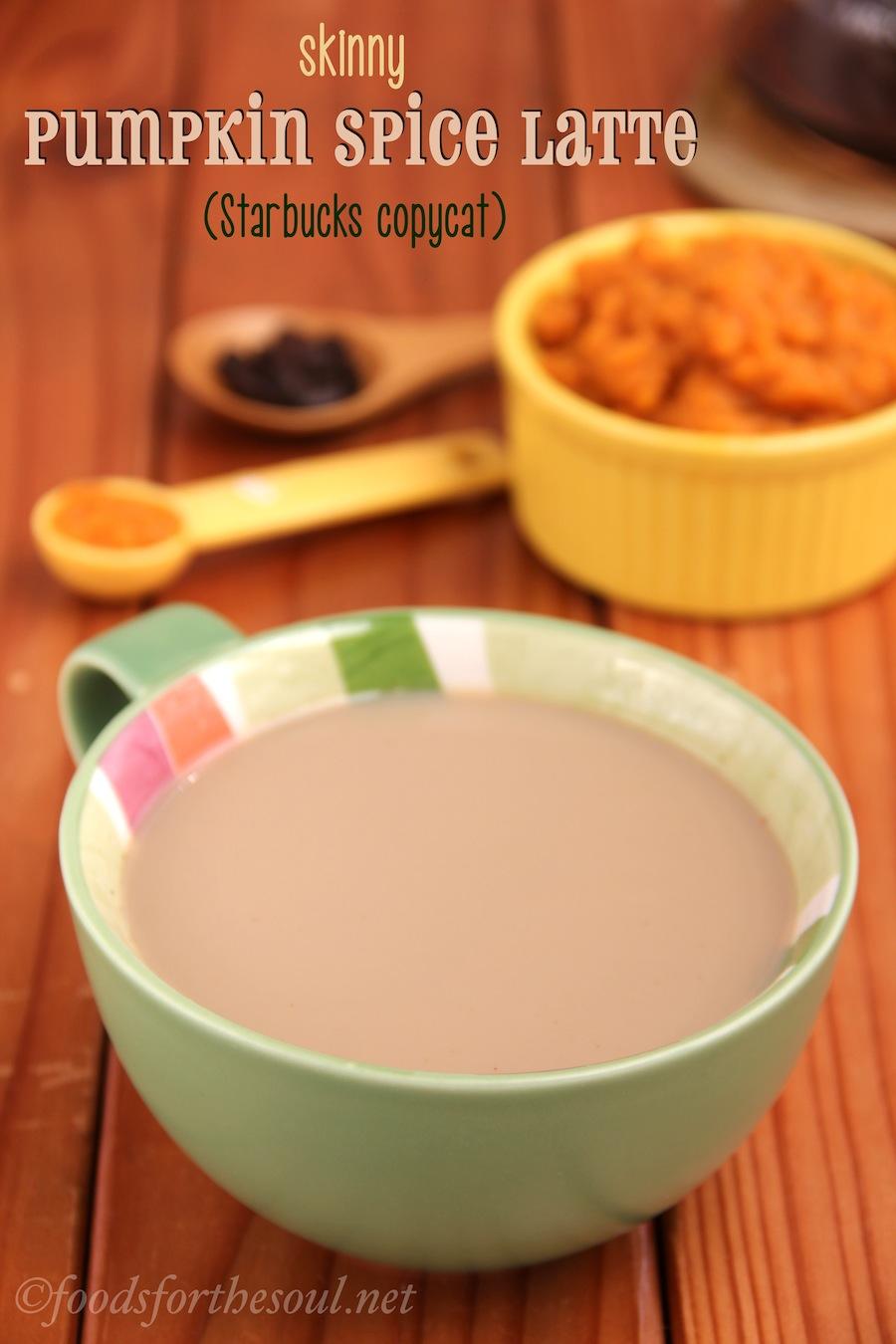 Skinny Pumpkin Spice Latte | Amy's Healthy Baking