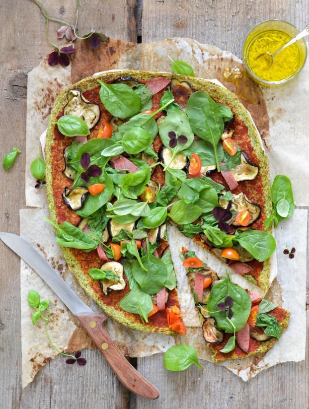 Broccoli Pizza Crust | Sunday Funday #2 on foodsforthesoul.net