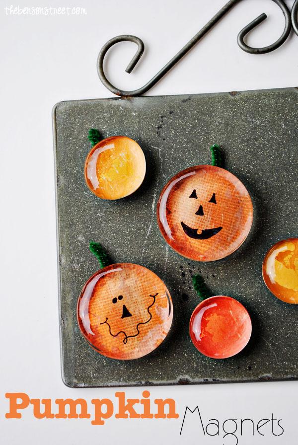 Pumpkin & Jack-O-Lantern Magnet Tutorial | Sunday Funday #2 on foodsforthesoul.net