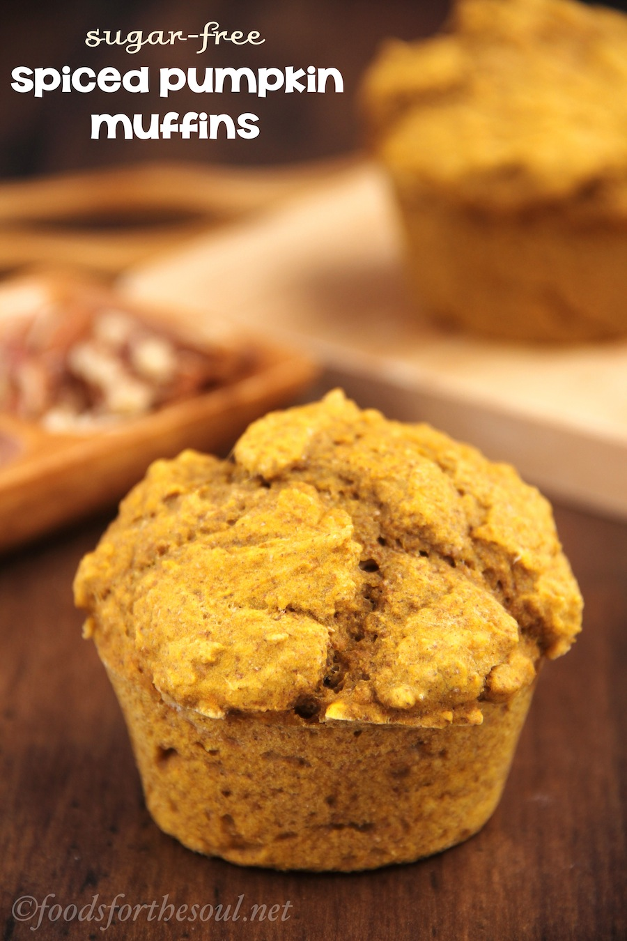 Spiced Pumpkin Muffins (Sugar-Free)