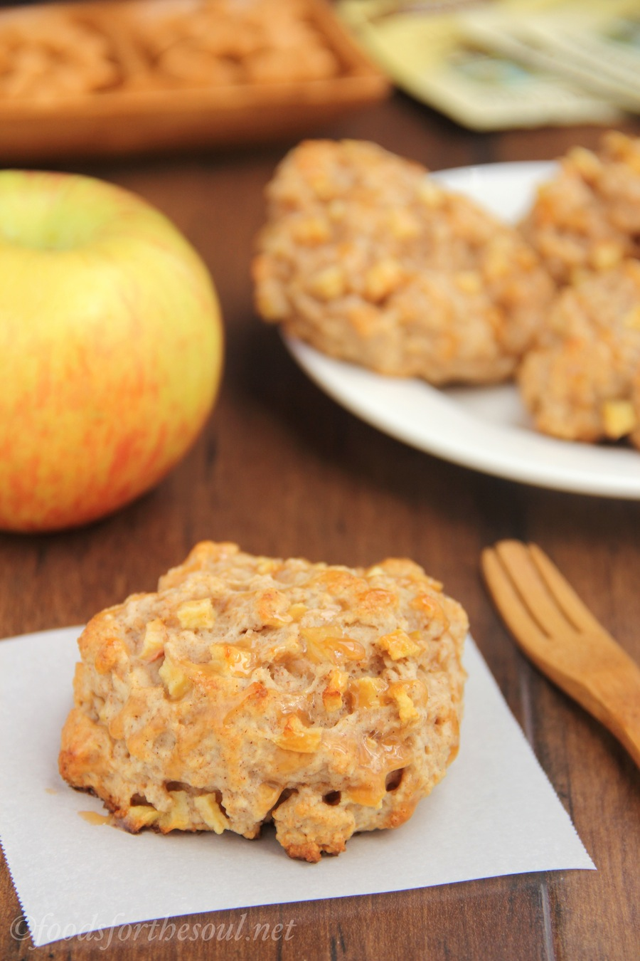 Caramel Apple Scones -- they barely take 45 minutes to make! | by Foods for the Soul {foodsforthesoul.net}