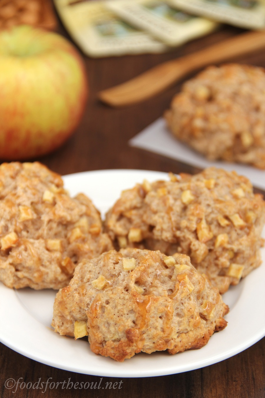 Caramel Apple Scones -- they barely take 45 minutes to make!