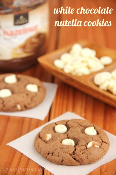 White Chocolate Nutella Cookies