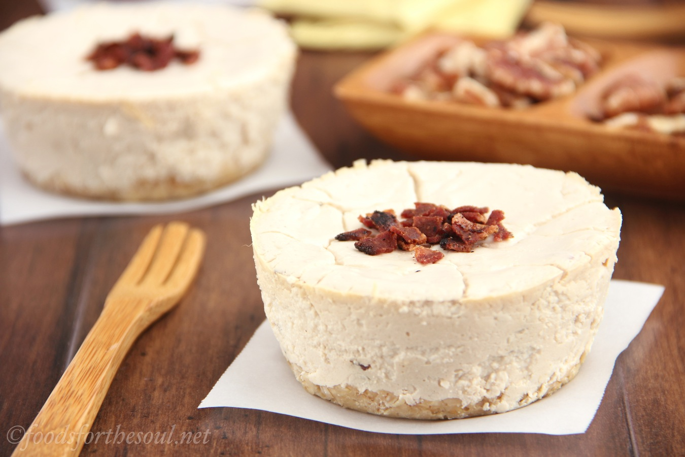 Maple Bacon Breakfast Cheesecakes. With over 16 grams of protein, they're MEANT to be eaten for breakfast!