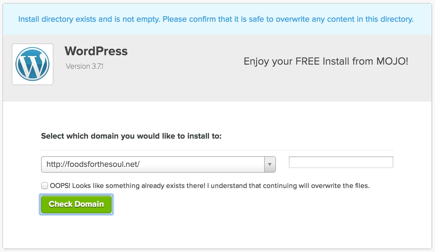 Setting Up WordPress -- Overwriting | How To Switch Your Blog To Be Self-Hosted {foodsforthesoul.net}