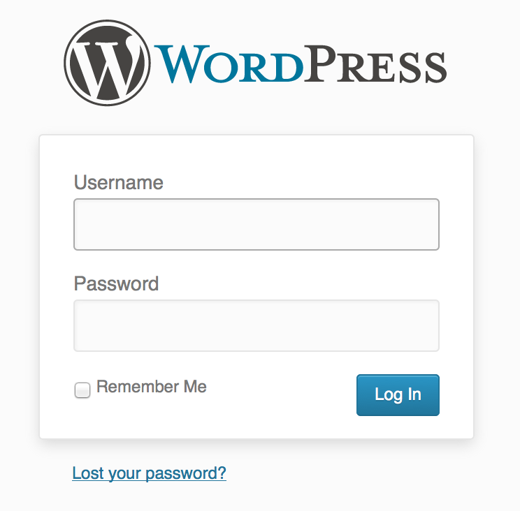 WordPress Login Screen | How To Switch Your Blog To Be Self-Hosted {foodsforthesoul.net}