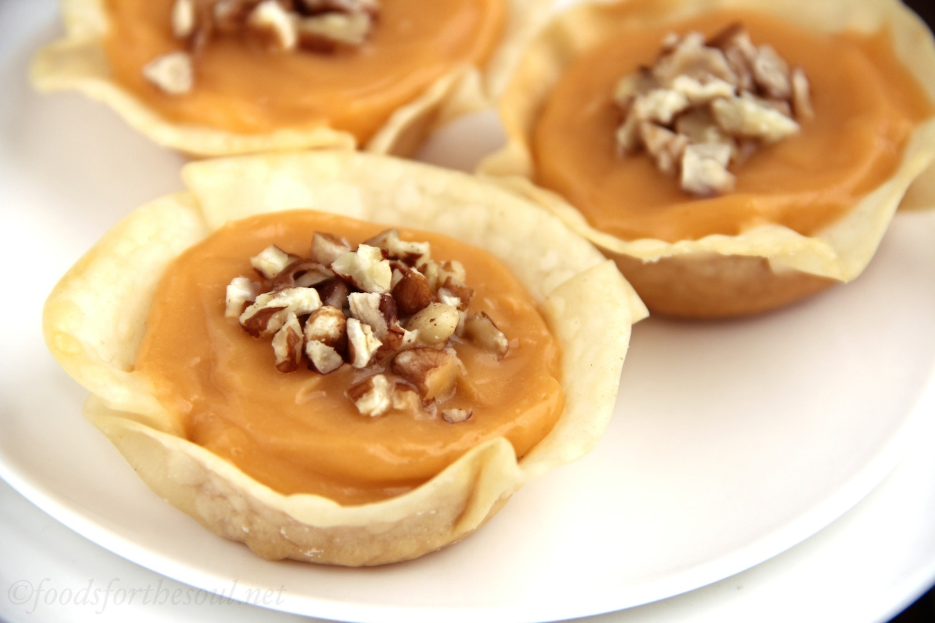 Butterscotch Pecan Tartlets