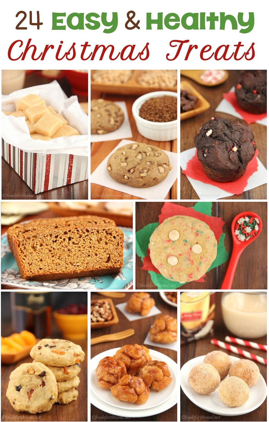 24 Easy & Healthy Christmas Treats -- perfect for last-minute breakfasts & baking!