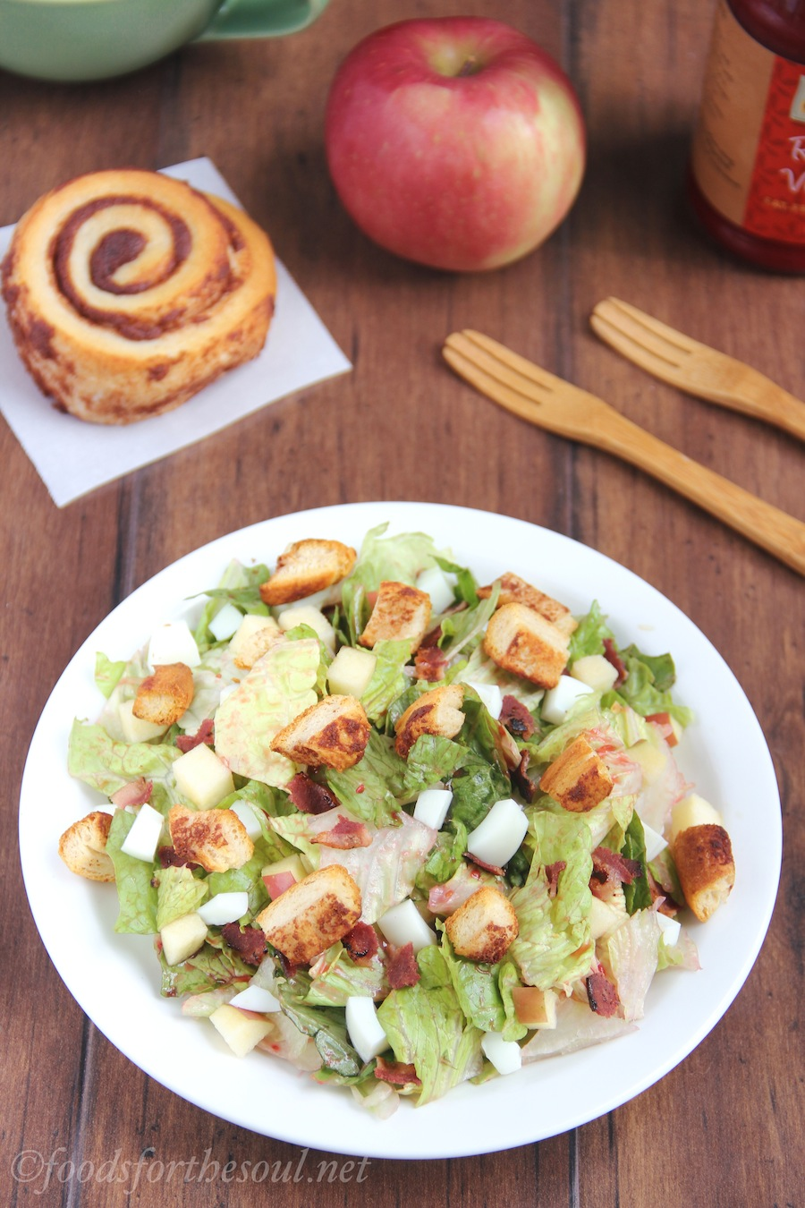 Cinnamon Roll Breakfast Salad