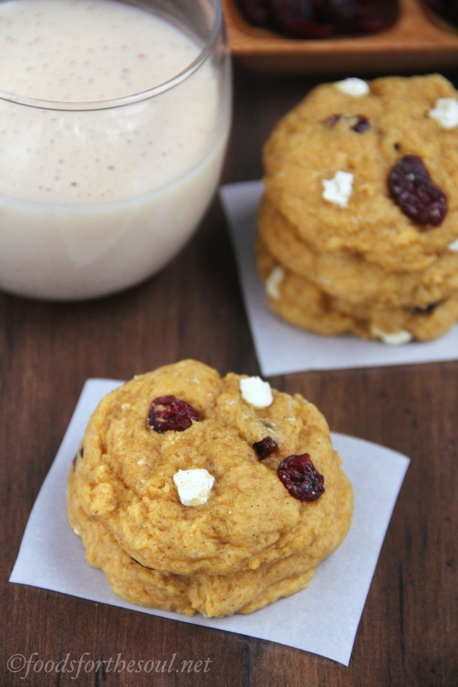 Cranberry Cream Cheese Pumpkin Cookies