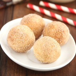Eggnog Donut Holes