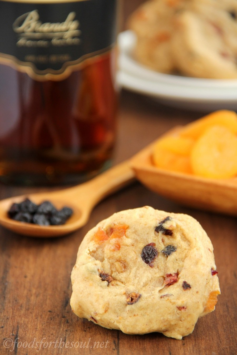 Fruitcake Cookies -- a healthy twist on the holiday classic. Soft, thick & so addictive!