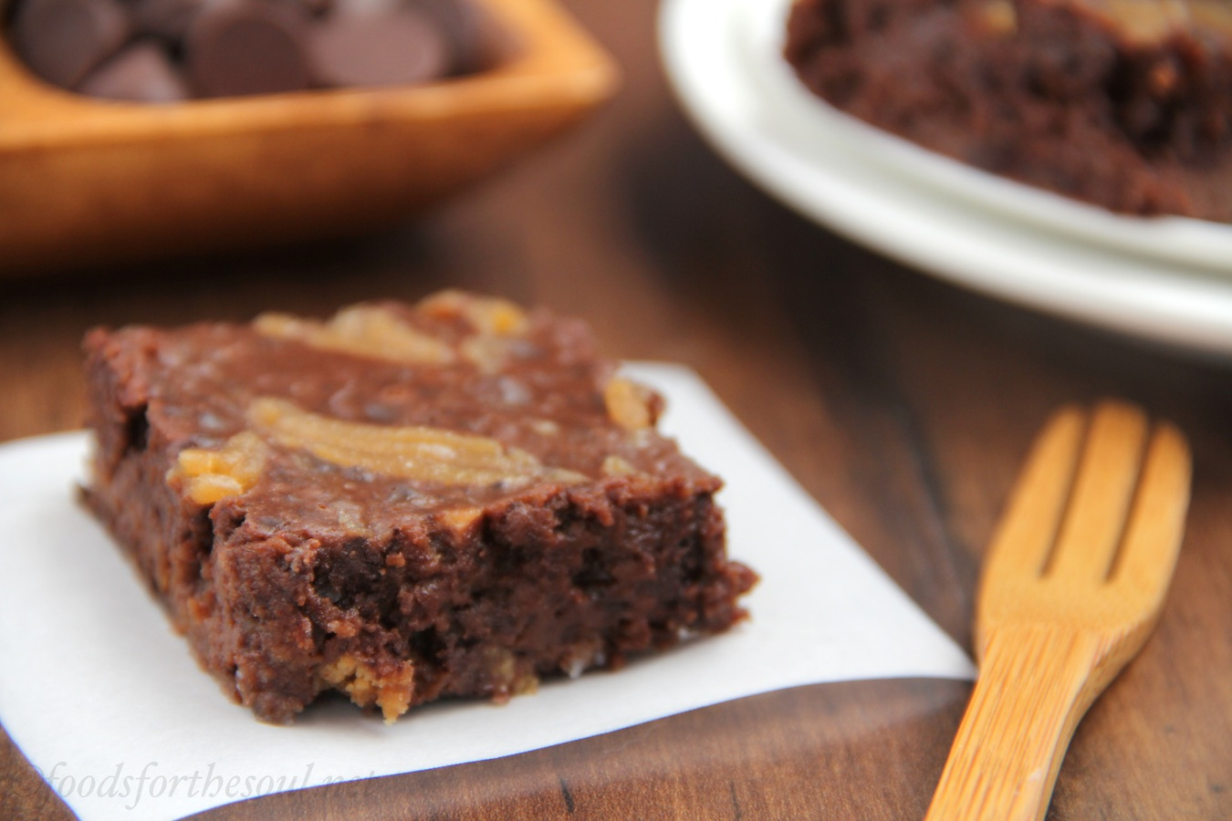 Fudgy Double Peanut Butter Brownies! They have Reese's PB Cups inside ...