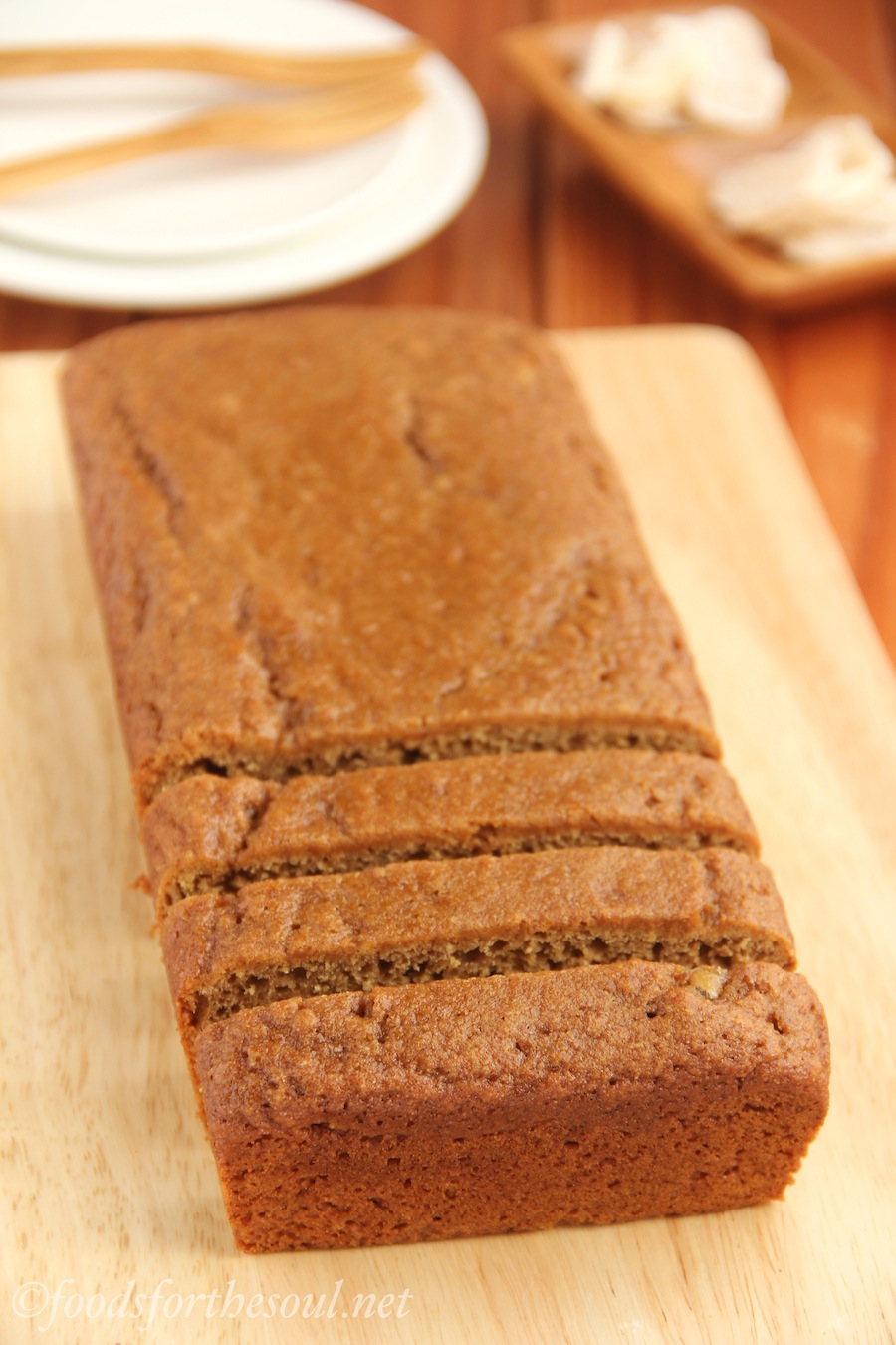 Gluten-Free Gingerbread -- moist, spicy & secretly skinny. A festive holiday treat!