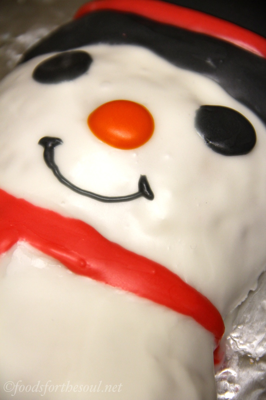 Maple Pecan Snowman Cake