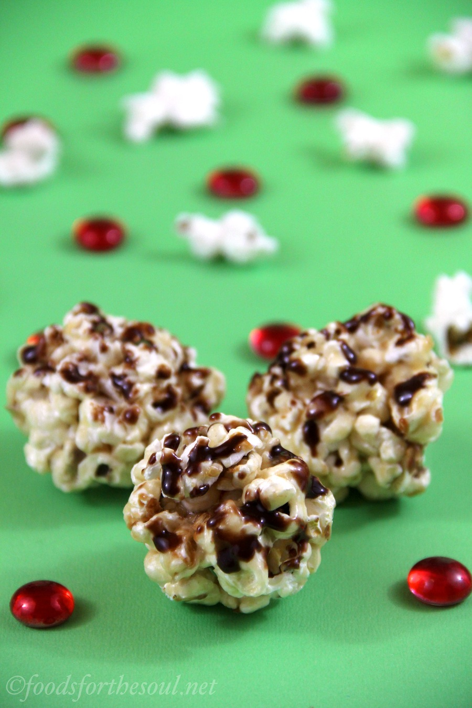 Peanut Butter & Nutella Popcorn Balls -- so easy to make!