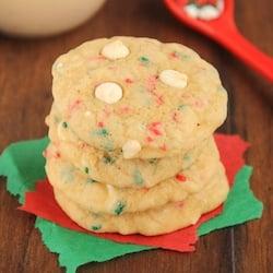 White Chocolate Funfetti Christmas Cookies