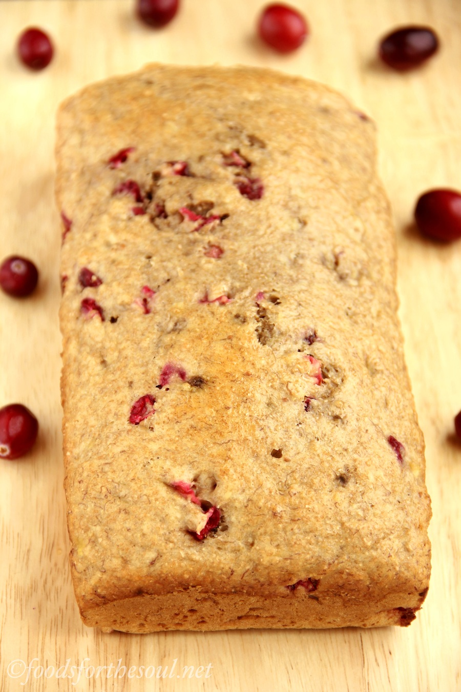 Whole Wheat Cranberry Banana Bread -- an easy recipe for a skinny, clean-eating treat!