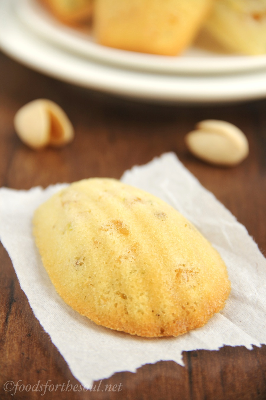 Apricot Pistachio Madeleines -- a lightened version that's still rich and buttery!