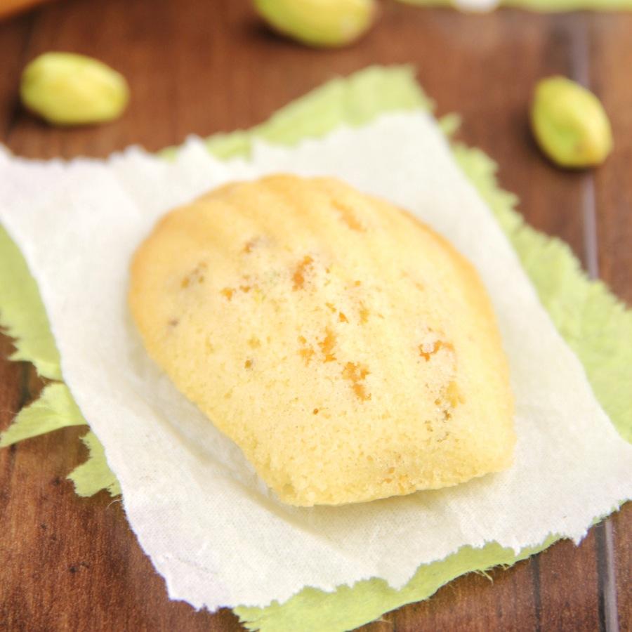 Apricot Pistachio Madeleines