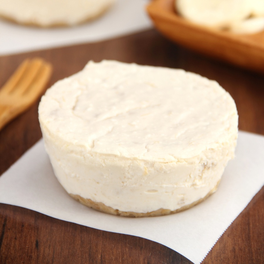 These creamy cheesecakes are bursting with banana flavor! The recipe ...