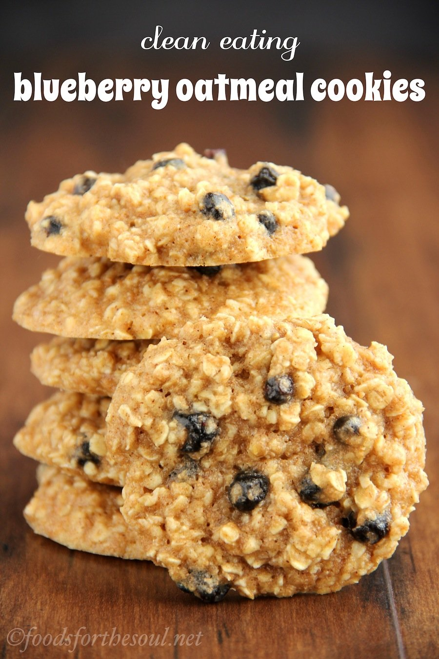 Clean-Eating Blueberry Oatmeal Cookies -- these skinny cookies don't taste healthy at all! You'll never need another oatmeal cookie recipe again!