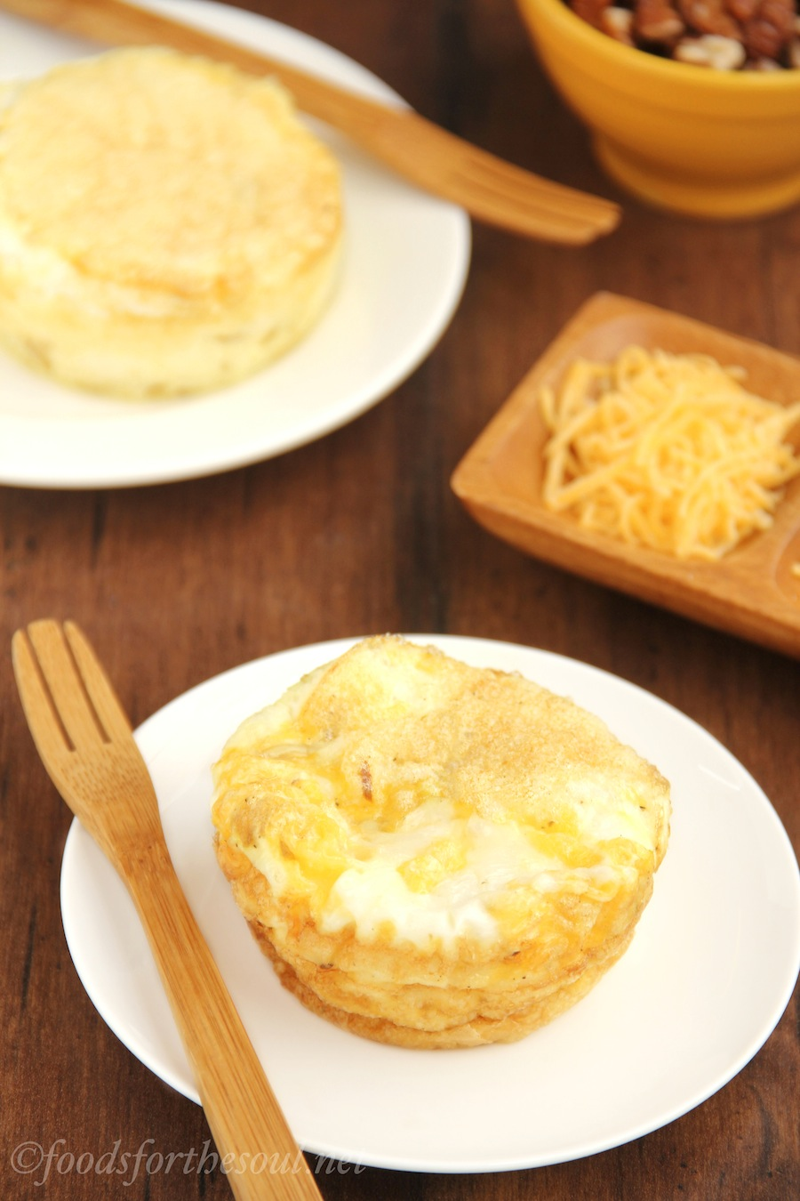 Skinny Caramelized Onion & Cheddar Quiches  -- quick, easy & healthy! {clean eating, GF}
